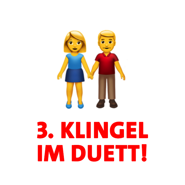 Regel 3 im Haustürwahlkampf - Klingelt im Duett!
