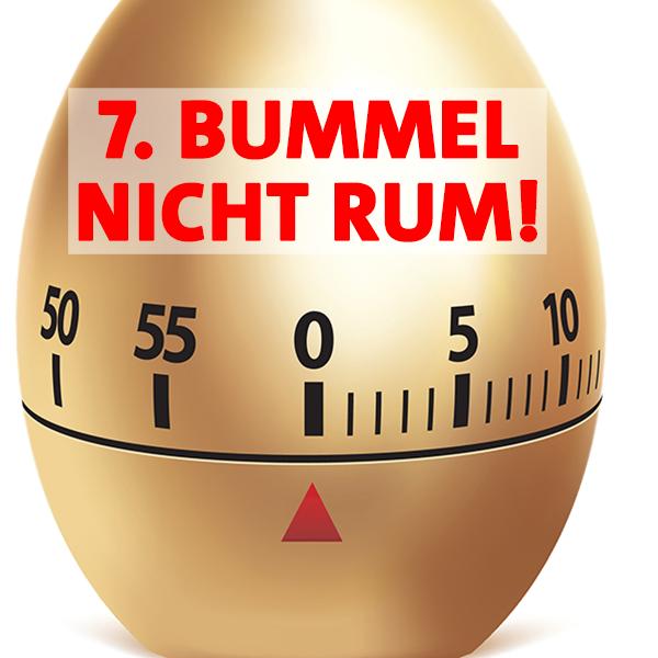 Regel 7 im Haustürwahlkampf - Bummel nicht rum!