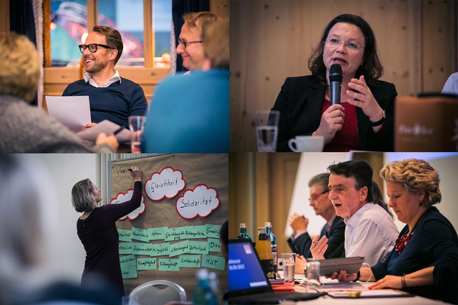 Collage von der Klausurtagung der NRWSPD 2017