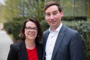 Porträtfoto von Nadja Lüders und Sebastian Hartmann