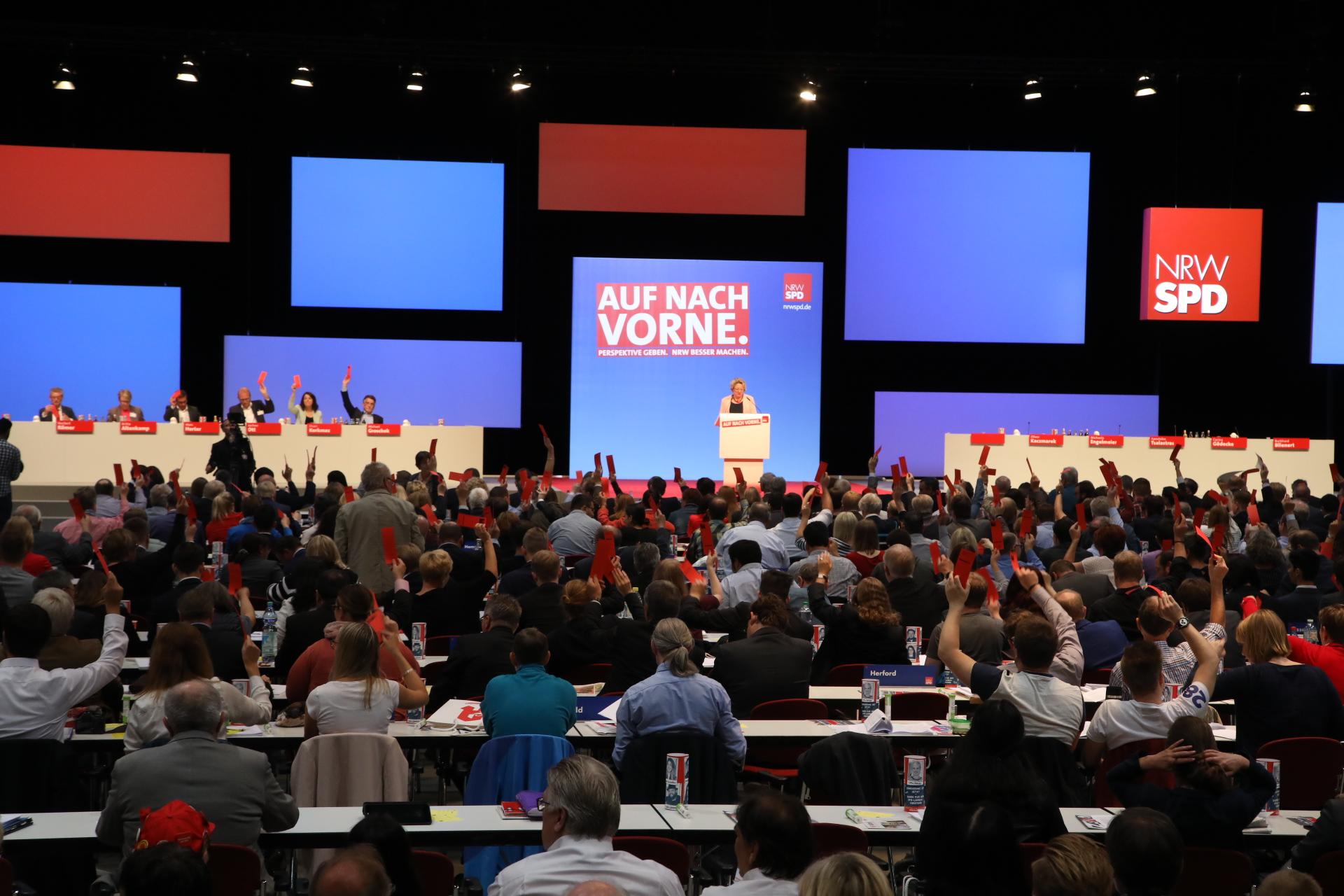 Svenja Schulze hält eine Rede vor den Delegierten