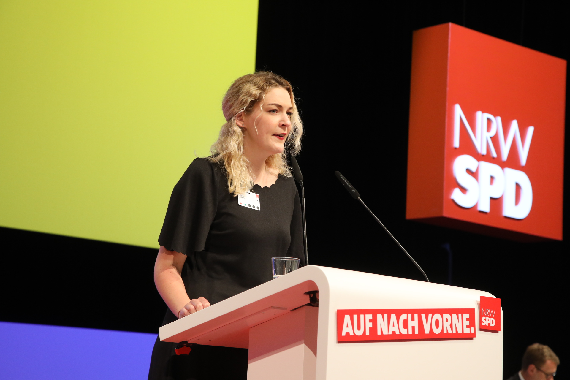 Sally Lisa Starken bei ihrer Rede auf dem Landesparteitag