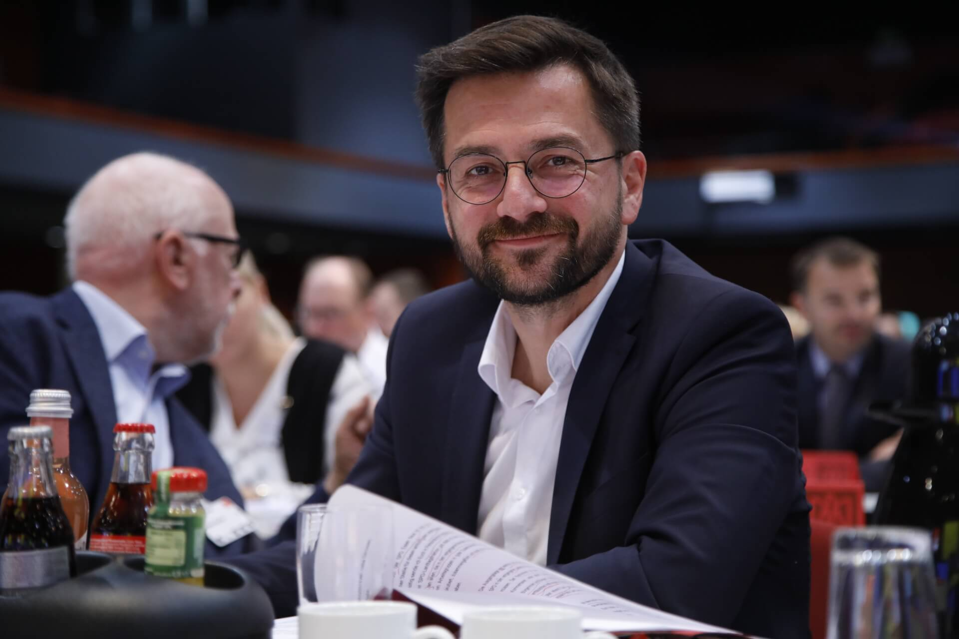 Thomas Kutschaty auf dem außerordentlichen Landesparteitag 2019 in Bochum