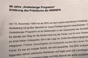 """Symbolbild zum """"Godesberg Programm"""" Eine Erklärung des Präsidiums der NRWSPD"""
