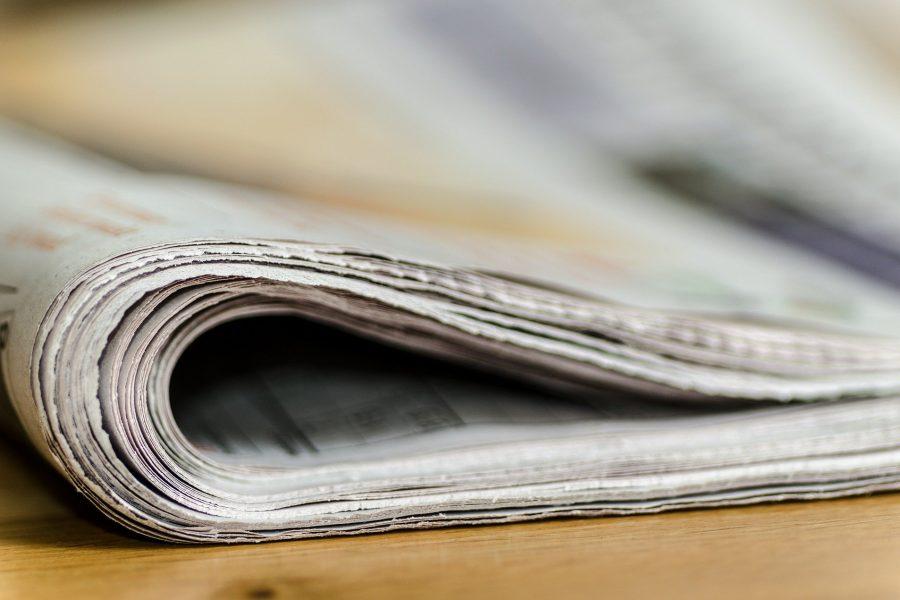 Das Bild zeigt eine Zeitung.